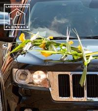 matrimonio fiori automobile sposi modena